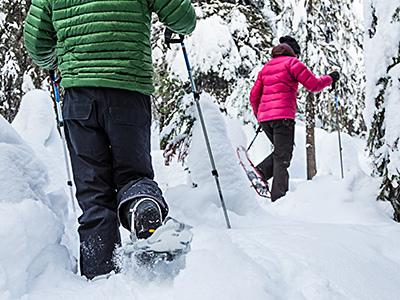 snowshoeing around borovets
