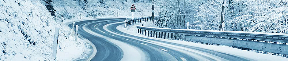 driving in winter to borovets